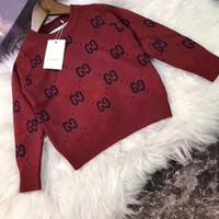 ingrosso vestiti disegni per bambino-Vendita calda Boy Designer di lusso maglioni Maglione Autunno Brand Design lavorato a maglia Pullover da neonate bambini abbigliamento per bambini Infant Top 092011