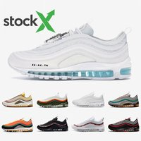 ingrosso scarpe sportive per uomini-Nike Air max 97 shoes Regency purple Laser Fuchsia Women Men Running Shoes Sliver Bullet South Beach Gym red White Outdoor Sports outdoor Sneakers 36-45