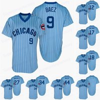 Wholesale light miller resale online - Chicago jersey Javier Baez Men Kyle Schwarber Craig Kimbrel Albert Almora JR Andre Dawson light blue Retro Cubs Baseball Jerseys