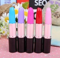 Wholesale free office supplies resale online - Creative stationery lovely stationery office supplies the true lipstick pen ball pen new year gift