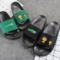 deslizador suave de interior al por mayor-Verano Mujeres / Hombres Zapatillas de Dibujos Animados Lindo Baño Interior Zapatillas Parejas Diapositivas Diseñador Chancletas Zapatos Suaves