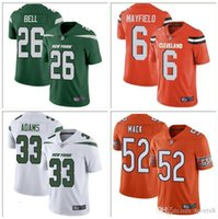 Wholesale ch jerseys for sale - Group buy Mens Youth Le Veon Bell Jamal Adams Sam Darnold Jersey Baker Mayfield Odell Beckham Jr Khalil Mack american football jerseys factory ch