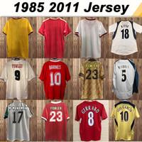 Wholesale 85 DALGLISH RUDDOCK Mens RETRO Soccer Jerseys FOWLER REDKNAPP WRIGHT McMANAMAN GERRARD TORRES MASCHERANO Football Shirt