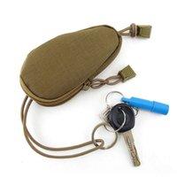 kleine nylon-tunnelzugtaschen großhandel-Mini Tactical Military Kleine Tasche Geldbeutel Schlüsseletui Geldbörse Nylon mit Kordelzug-Verschluss