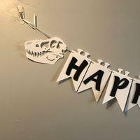 party thema schwarz weiß großhandel-Dinosaurier Thema Geburtstag Banner, schwarz / weiß Party Banner, Geburtstag JUNGE Party Dekor,