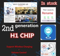 Wholesale iphone change resale online - 2020 Newest Tws nd Gen Wireless Earphones Bluetooth Change Name GPS Positioning Bass rename Headphones H1 chip AP2 for i7 i9s i500 i200