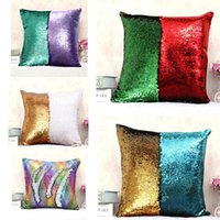 Wholesale sequin home decor for sale - Group buy Home Decor X40cm Color Changing Reversible Pillow Case DIY Mermaid Sequin Colorful Cushion Cover Magical Throw Pillowcase DH0418