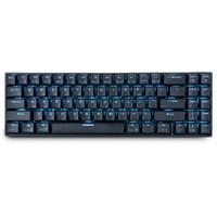 usb küçük klavye toptan satış-Kraliyet kludge RK71 71 Tuşlar Mekanik Klavye Küçük Kompakt Bluetooth 3.0 Kablosuz USB Buz Mavi LED aydınlatmalı Mavi Kahverengi Anahtarı