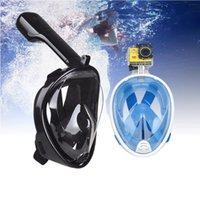 masque respiratoire achat en gros de-Masque de masque complet, masque de plongée sous-marine avec vue panoramique, Set de tuba à libre souffle avec anti-buée, anti-fuite pour enfants et adultes