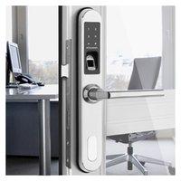 biometrisches fingerabdrucksystem großhandel-Neue ankunft biometrische türschloss system fingerprint access control türschlösser wasserdicht für hause schiebetür