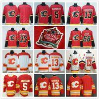 Wholesale sean monahan jersey for sale - Group buy 2019 New Calgary Flames Heritage Classic Jerseys Mark Giordano Johnny Gaudreau Sean Monahan Jaromir Jagr Ice Hockey Jerseys