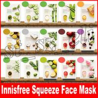ölgesicht großhandel-Innisfree My Real Squeeze Gesichtsmaske Blatt Kinds Oil Control Feuchtigkeitsspendende Gesichtshautbehandlung Masken Make-up