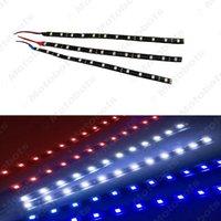 luces de conducción diurna led verde al por mayor-Leewa 10pcs 30cm azul / rojo / blanco / verde / amarillo 12-5050SMD coche LED Daytime Running Light Strip # 1569