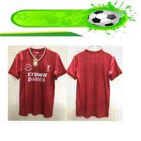 camisetas de futebol de manga curta venda por atacado-Liverpool 1985 1986 mangas curtas retro camisa de futebol Paul Walsh 1985 1986 RETRO