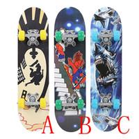 juguetes para adolescentes al por mayor-Skate Board Completa Skateboard Madera de arce 3 Estilo Hoverboard de alta velocidad Adolescentes populares Juguete Scooter Longboard de moda