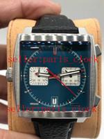 relógios brilhantes venda por atacado-Estilo SF CAW211P estilo Clássico de Alta Qualidade 39mm Luz vermelha brilhante Multifuncional Timing Relógios Masculinos Data de exibição de Couro Decorativo Assista