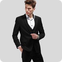 Wholesale design marriage suit resale online - Latest Design Black Men Suit Groom Tuxedos Wedding Gentle Bridegroom Wear Pieces Best Man Blazers Groomsmen Marriage Jacket Custome Homme