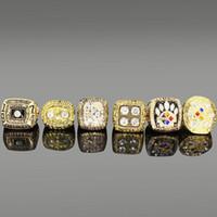 1d72869db 6pcs Set Super Bowl Champion Ring Collection 6pcs Set Champion Men s  Souvenir Finger Ring Jewelry Vintage Championship ring