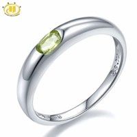 Wholesale 925 jewelry finding resale online - Hutang Natural Stone Wedding Rings Peridot Gemstone Sterling Silver Jewelry Band Tail Ring Find Jewelry For Women Gift J190706