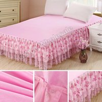 Wholesale princess bedding set king size for sale - Group buy Bedding Sets bedspread Princess Lace Bed Skirts Mattress Cover Full Queen King size