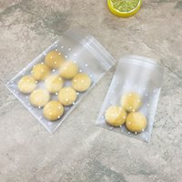 Wholesale polka dots plastic bag for sale - Group buy 100pcs Plastic Transparent Cellophane Bags Polka Dot Candy Cookie Gift Bag with DIY Self Adhesive Pouch Celofan Bags for Party