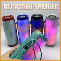 boîte de son mp3 usb achat en gros de-TG157 Portable LED Lampe Haut-parleur Étanche FM Radio JBL Sans Fil Boombox Mini Colonne Subwoofer Boîte De Son Mp3 USB TV Barre De Son