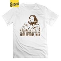 únicos hombres casuales camisetas al por mayor-The Big Lebowski T Shirt Just Like You're Opinion Design Mangas cortas 100% algodón Hombre camiseta Camisetas con cuello redondo