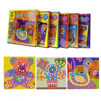 artisanat pour enfants achat en gros de-6pcs / set 3d mosaïques Puzzle Creative Sticker Jeu Animaux Transport Arts Artisanat Pour Enfants Jouet Éducatif 3d Puzzle Autocollants Mosaïque