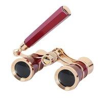 Wholesale coated binoculars resale online - 3X25 Glasses Opera Theater Binoculars Telescope Fashion Horse Racing Multifunction Coated Lens Accessories Women With Handle