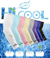 38cm Hicool Cool summer Arm Sleeve Sun Protection Anti UV Protector Summer Sports Cycling Arm Sleeve Arm Warmers Ice silk arms cover