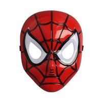 brinquedos luz led para o dia das bruxas venda por atacado-Máscara dos desenhos animados LED incandescência Superhero Halloween Luz Aranha homem da máscara infantil Spiderman Toy brilho da lâmpada Spiderman For Kids