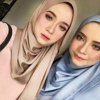 ördek hicabı toptan satış-Müslüman Başörtüsü Eşarp Başörtüsü Wrap Georgette Şal İslam Kadınlar Temel Veils lady Türban Düz Kabarcık Şifon
