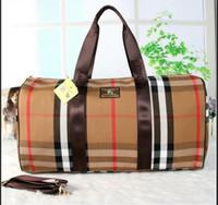 eski deri bagaj toptan satış-Sıcak 55 cm erkekler kadınlar seyahat çantası PU Deri spor çantası bagaj Bağbozumu çanta büyük kapasiteli spor çanta