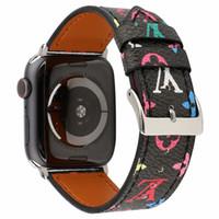 iwatch ремешок для часов оптовых-Для Apple Watch Band Браслет Умные Ремни 38 / 40mm 42 / 44mm Ремешки для часов Кожаные Спортивные Часы Ремни Замена iWatch Band для Женщин Мужчин