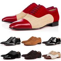 el punto rojo libera el envío al por mayor-Top Business Gentleman Sneaker Fondo rojo Greggo Orlato Flats Hombres, mujeres Caminando Vestido de fiesta de bodas Diseñador Red Sole Shoes envío gratis