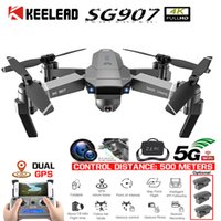 Wholesale rc camera gimbal resale online - KEELED SG907 Drone GPS positioning K Gimbal G WIFI Dual Camera Drone Professional gps return home Foldable Quadcopter RC dron T191016