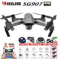 KEELED SG907 Drone GPS positioning 4K Gimbal 5G WIFI Dual Camera Drone Professional gps return home Foldable Quadcopter RC dron T191016