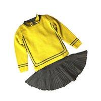 детские юбки оптовых-Девочки осенью и осенью 2019 года новые модели прилива женского иностранного газа детская юбка из двух частей свитер костюм