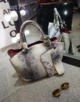 python çanta toptan satış-Toptan-2015 kadın çantası piton tane büyük çanta bağbozumu tek omuz çantası kadın moda çanta