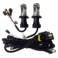 Wholesale wiring harnesses for cars resale online - 55W New Wire Harness for Car HID Bi xenon Headlight Bulbs Conversion Kit H4 Hi lo HID Lamp Relay Harness