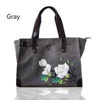 целые сумки оптовых-Оптовая продажа женщины сумка, холст сумка, ноутбук сумки,большие емкость сумки-Tote с застежкой-молнией, ноутбук работа студент мешок
