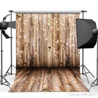 ingrosso modello di sfondo-3m x 3m fondale in legno Vinile Fotografia Sfondo Pavimento in legno Motivo fotografico Fondali Home Decor Sfondi Studio Puntelli 10x10Ft