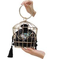 ingrosso alta gabbia-2019 donne sera festa frizione moda borsa ricamata all'uncinetto metallo anello gabbia pacchetto borsa borsetta da sposa di alta qualità b010