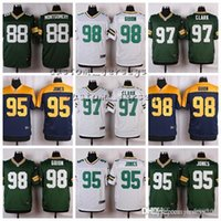 Green Bay Packers  98 Letroy Guion 97 Kenny Clark 95 Datone Jones 92 Reggie  White 89 Jared Cook 88 Ty Montgomery Elite Football Jerseys d1635152d