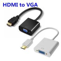 convertidor de cable de video hdmi al por mayor-Convertidor HDMI a VGA de 1080p Cables de audio y video Puerto de pantalla DP Cable adaptador de convertidor hembra a VGA hembra 100 piezas DHL con paquete Opp