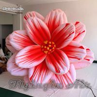 inflável flor decorações venda por atacado-Grande Bonito Florescendo Inflável Flor 3 m de Diâmetro Pendurado Iluminação Balão de Flores Artificiais Para Decoração De Concerto E Festa