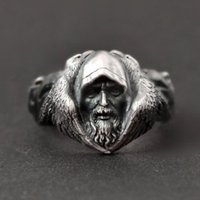 Wholesale stainless steel wolf rings resale online - Nordic Odin Raven Vintage L Stainless Steel Ring Men s Viking Wolf Stainless Steel Punk Ring Scandinavian Gothic Jewelry