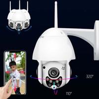 ingrosso prezzi delle telecamere esterne-Telecamere di sicurezza CCTV wireless 1080P 2MP con telecamera IP PT senza fili Telecamere di sicurezza CCTV per esterni Telecamera di visione notturna P2P audio WIFI