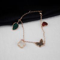 14k quaste armband großhandel-Frauen Quaste Armband Designer Schmuck Luxus Rose Gold Schmetterling Diamant Armbänder Charms Hochzeit Schmuck