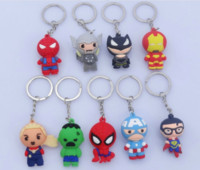 Wholesale united iron resale online - New Avengers United States Captain Hulk Superman Iron Man D Stereo Keychain Small Pendant Gift DHL